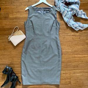 Kasper Dress Grey Lined Size 10 Sleek Style
